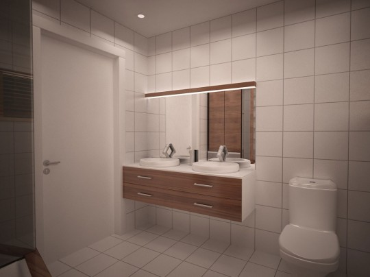 Starter House salle de bain moderne et chaleureuse