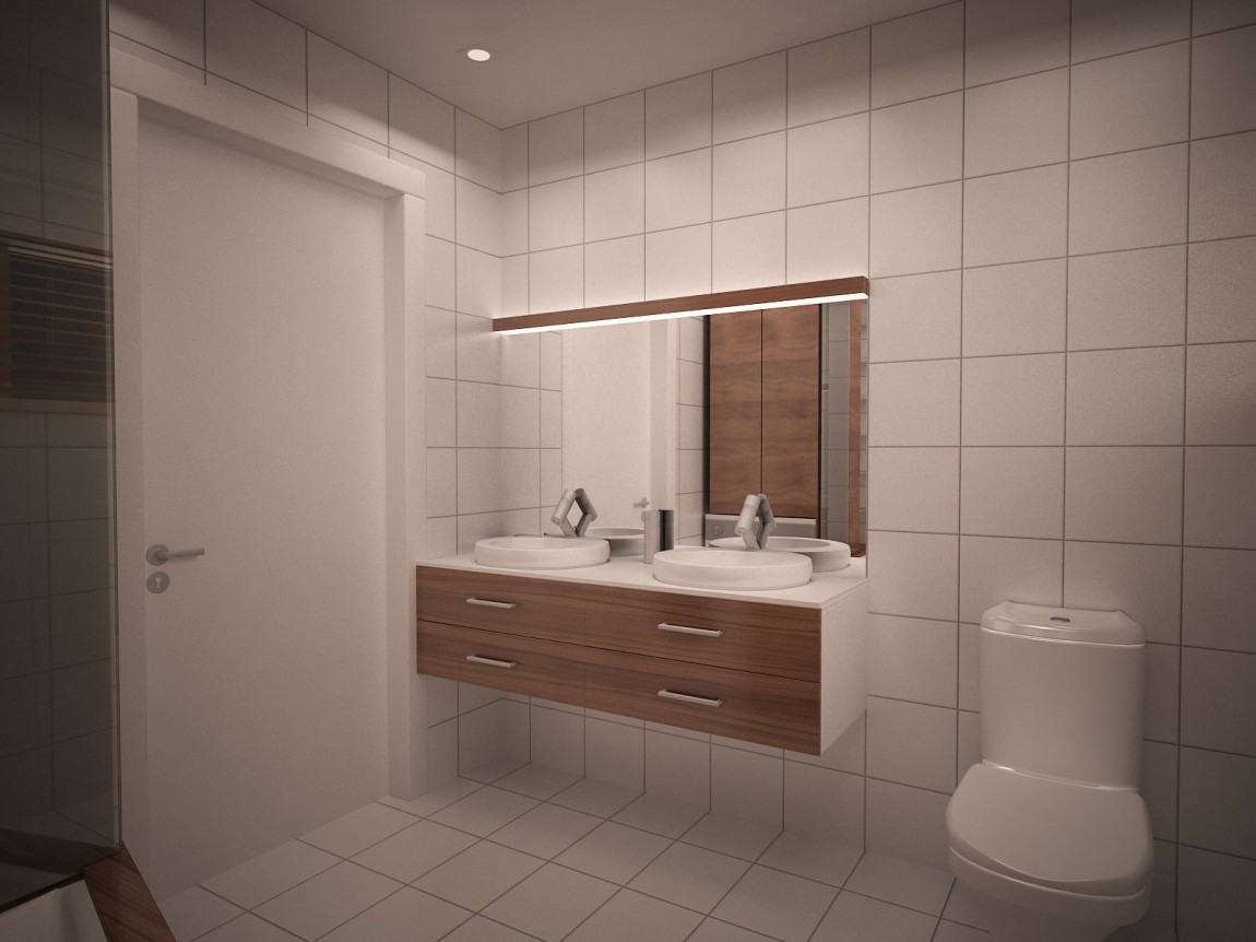 starter house salle de bain moderne et chaleureuse. Black Bedroom Furniture Sets. Home Design Ideas