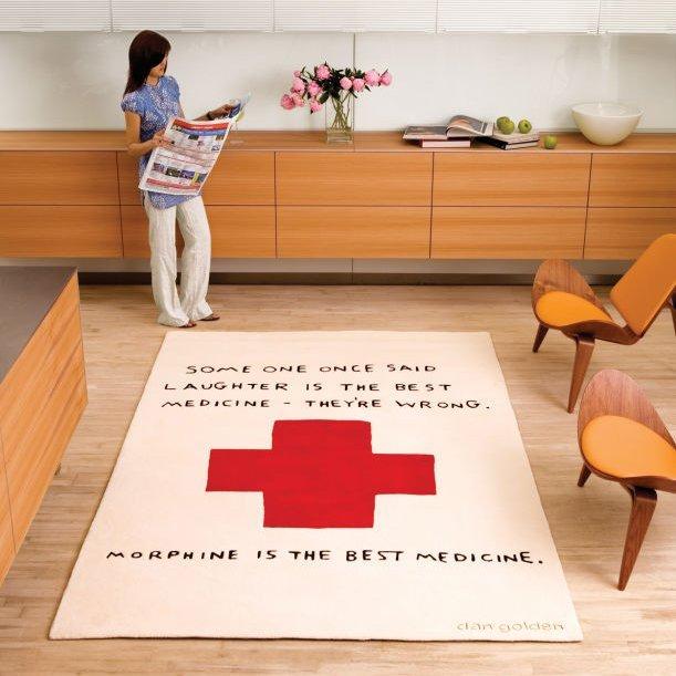 Déco anti-conventionnelle : tapis Morphine de Dan Golden