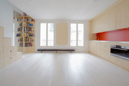 Appartement C aménagé par le cabinet d'architectes Schemaa