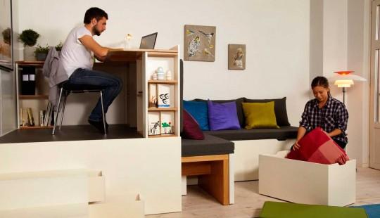 Bureau et rangement dans un petit espace