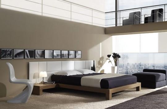 chambre avec un tapis sous le lit - Tapis Chambre