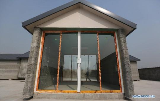 Maison imprimée avec une imprimante 3D en chine