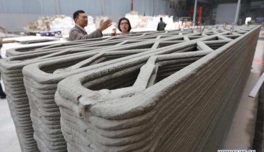 Maison imprimée en 3D par une société chinoise