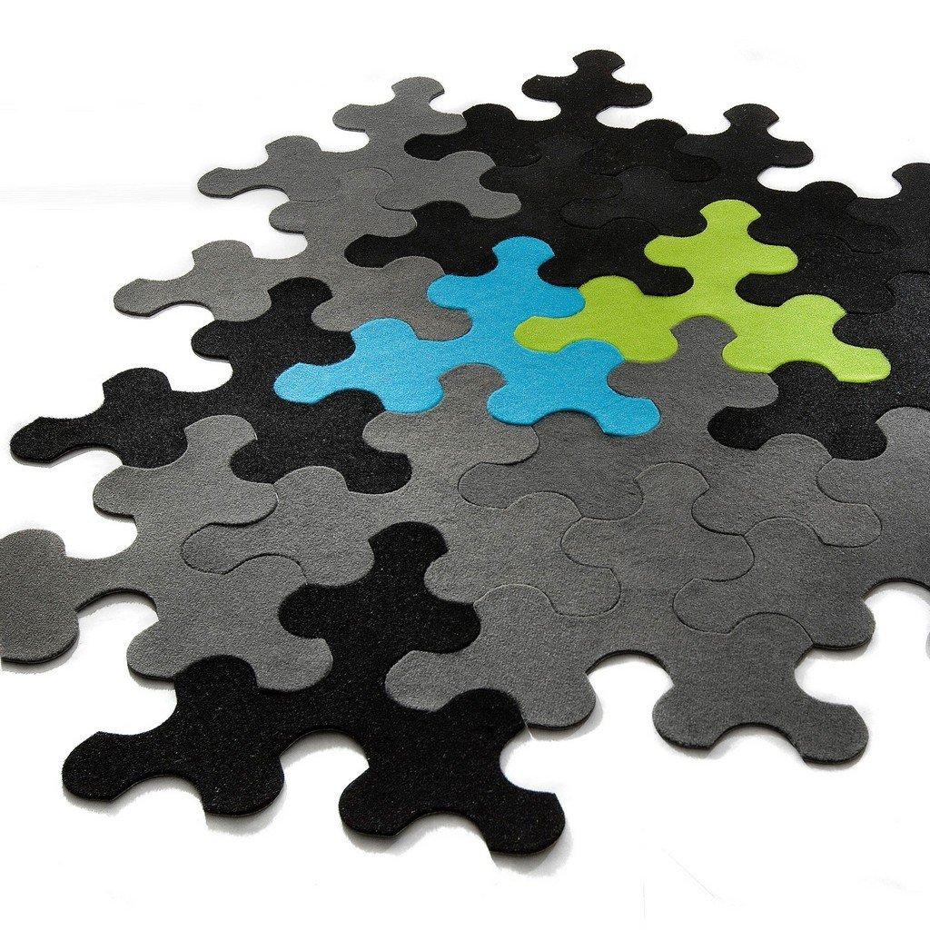 tapis puzzle ludique et design. Black Bedroom Furniture Sets. Home Design Ideas