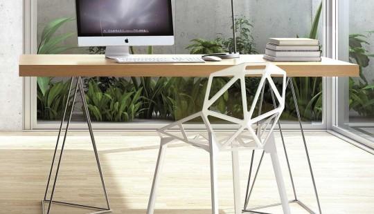 Bureau design Dania tréteaux