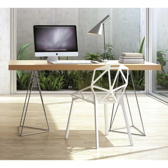 5 bureaux en bois design moins de 400 euros - Bureau avec treteaux ...