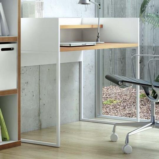 Bureau design en bois blanc Oslo