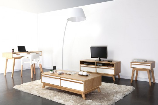 Bureau design scandinave Helia dans un intérieur contemporain