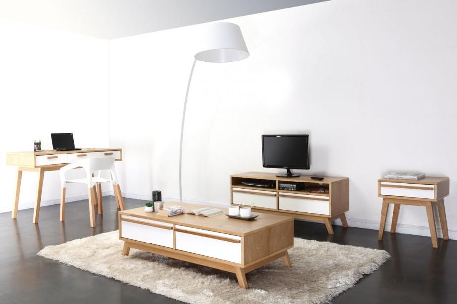 Bureau design scandinave helia dans un int rieur contemporain for Style contemporain scandinave
