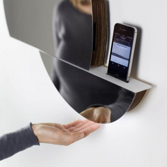 Open Mirror - miroir système audio pilotable par geste de la main