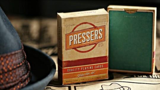 Cartes à jouer vintage Pressers