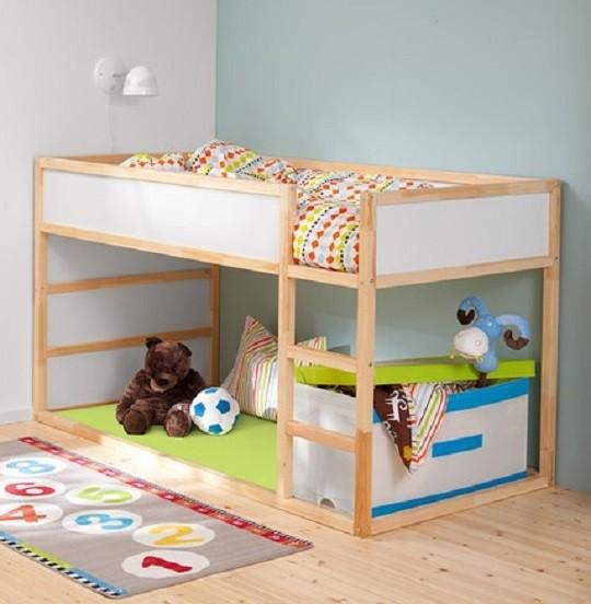 Lit haut pour enfant avec échelle réversible Kura par Ikea