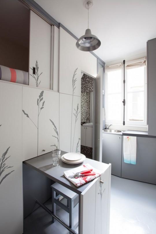 Minuscule appartement parfaitement optimisé