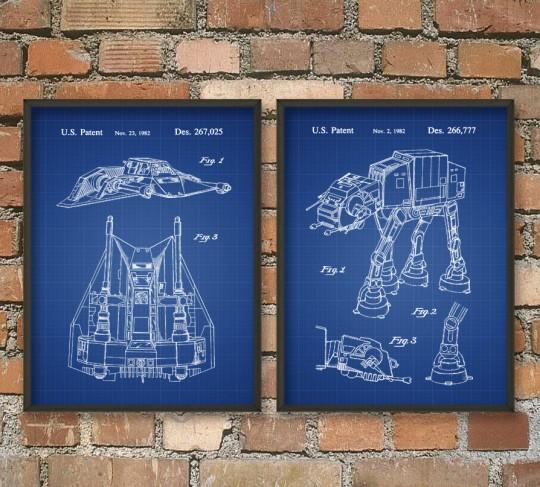 Affiches encadrées quadripode impérial Star Wars