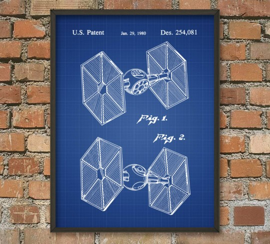 Poster plan Star Wars Tie Fighter impérial