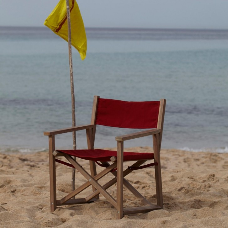 Fauteuil metteur en scène Alfred sur la plage
