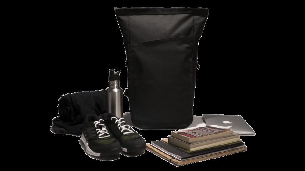 Invisible backpack contenu du sac à dos