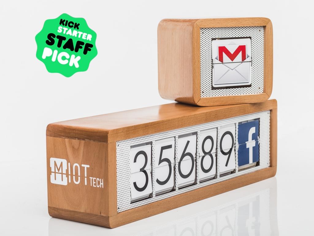 MIOT : le boitier qui affiche votre nombre de fans sur les réseaux sociaux (et plus encore…)