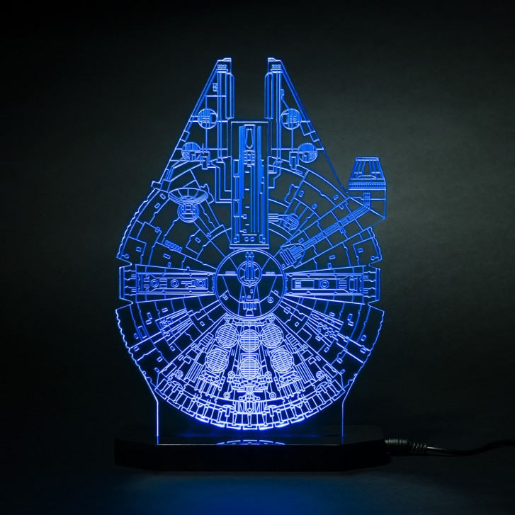 Lampe Star Wars faucon millenium