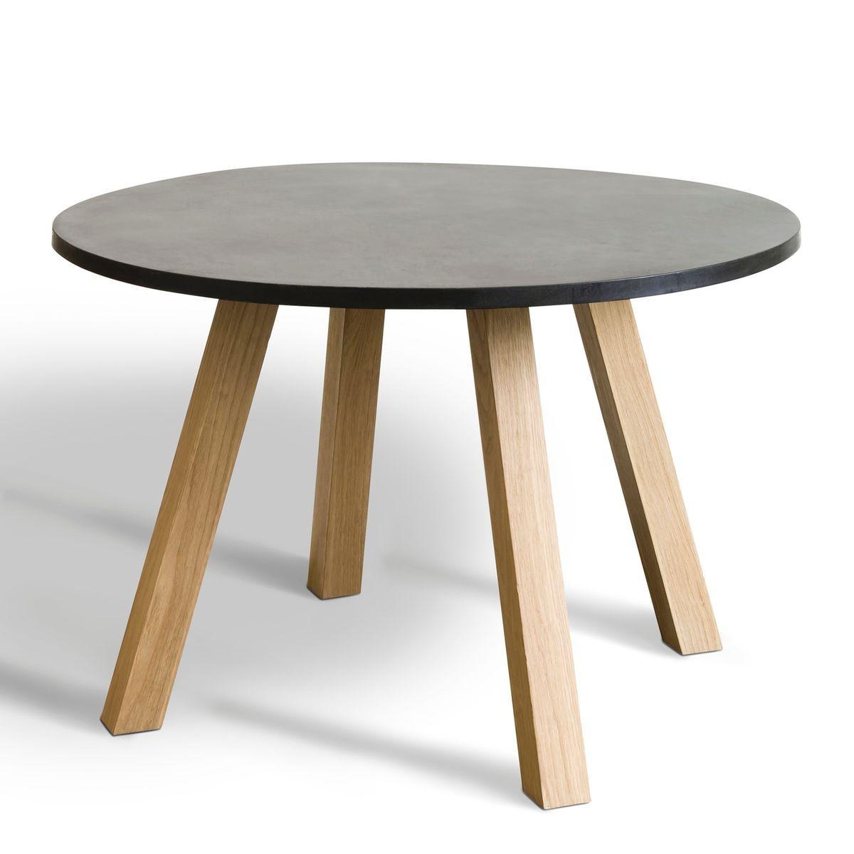 table ronde avec pi tement r versible jacob. Black Bedroom Furniture Sets. Home Design Ideas