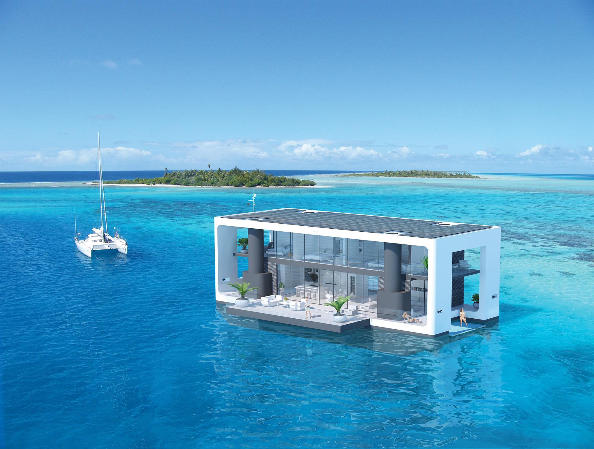 Maison flottante écologique Arkup