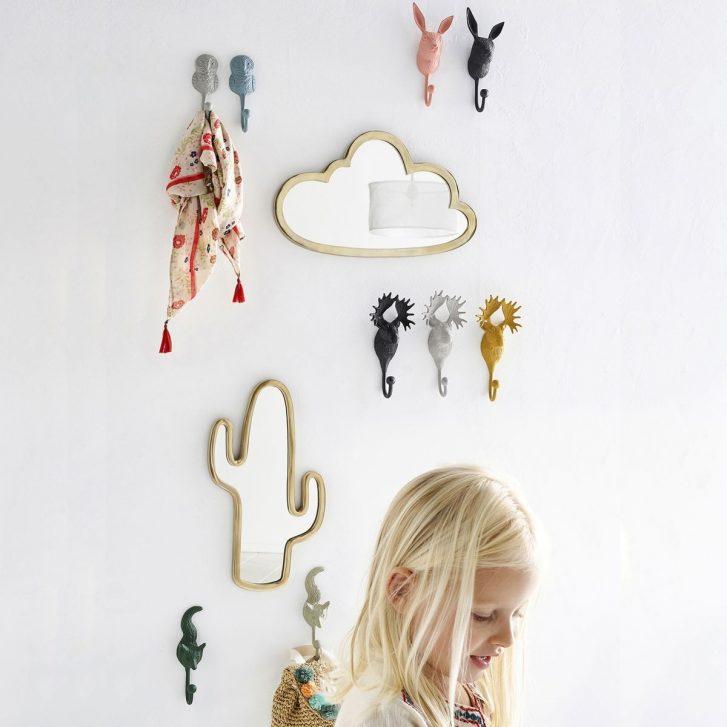3 miroirs originaux pour une chambre d\'enfant (cactus, nuage, tipi)