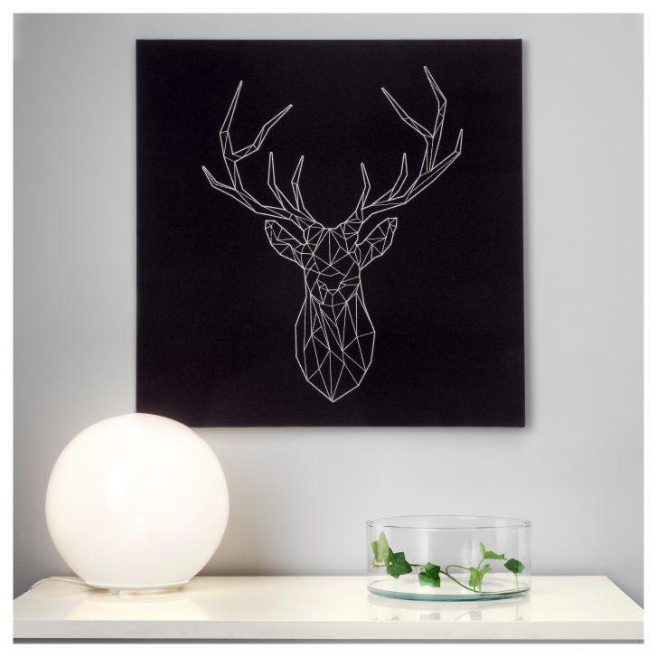 Tableau Cerf Argente Ikea