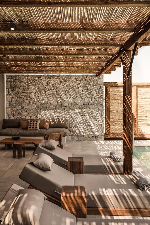 Casa cook kos - chambre avec piscine et transats