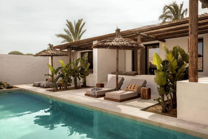 Casa cook kos - transats piscine