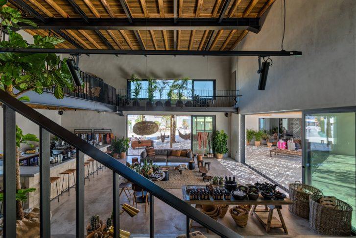 Casa cook kos - vue escalier mezzanine
