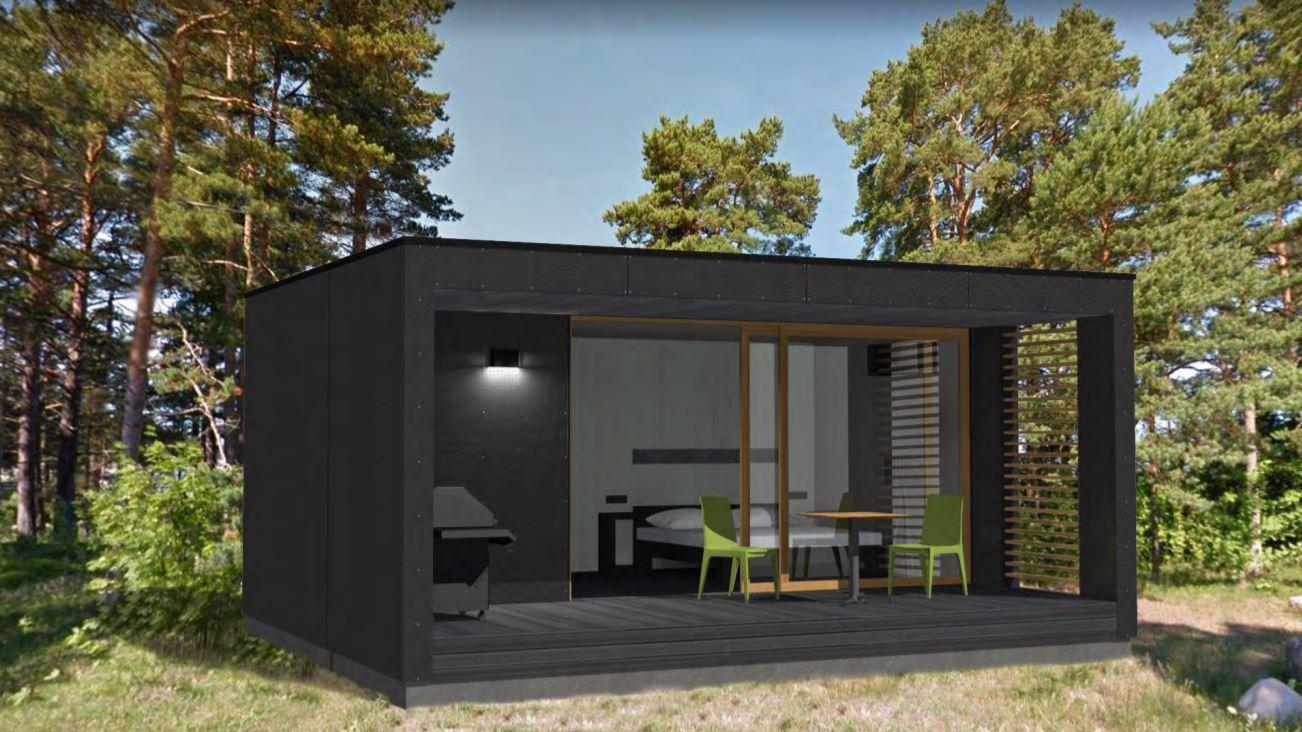 The Container house : la mini maison préfabriquée en bois