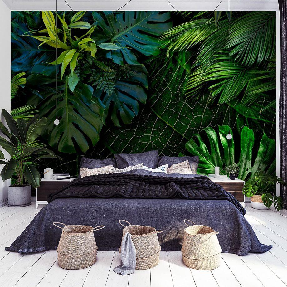 Chambre avec papier-peint Jungle