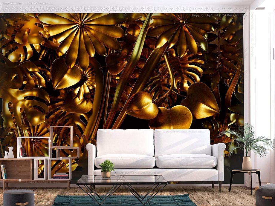 Papier-peint gold jungle