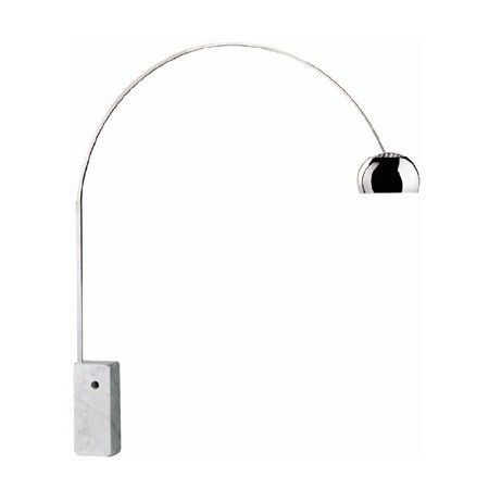 Lampadaire arco par achille castiglioni - Lampe arco pied marbre ...