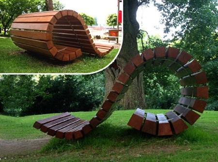 banc en bois design Kima bench