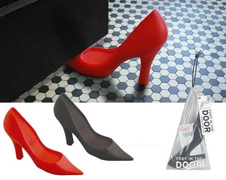bloque-porte design en forme de chaussure rouge
