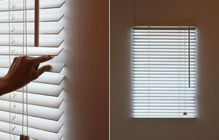 Bright blind, store lumineux pour pièce aveugle - Makoto Hirahara design