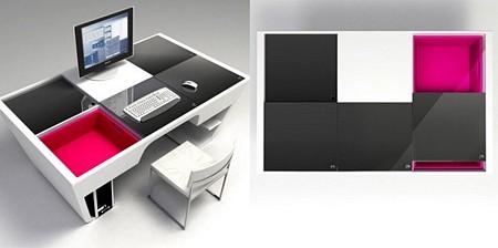 Photo du bureau avec panneaux coulissants Puzzle Table