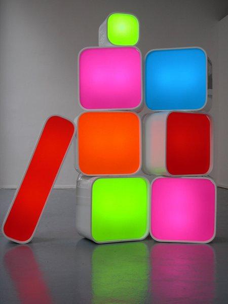 photo caisson lumineux de couleur Archizip light