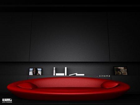 canapé design lounge rouge Cinéma, Umo Masada