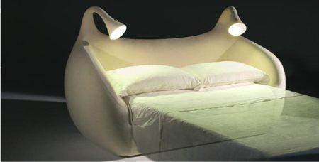 canapé-lit Morfeo avec éclairage intégré - version lit déplié
