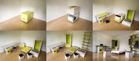 Casulo, une boite qui contient tous les meubles