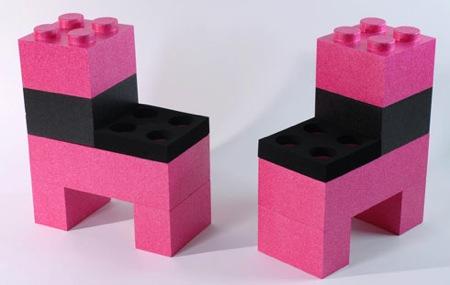 chaise en lego Lunablock