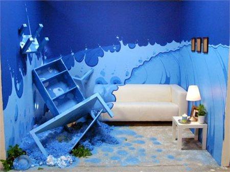 chambre avec un design surfer, ambiance de la mer - Design star