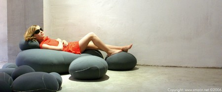 photo coussin galet - Livingstones