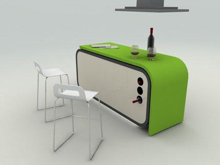 cuisine design modulable - Meuble Bar Design Contemporain