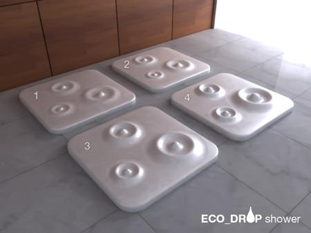 receveur de douche avec dalle en relief Eco drop
