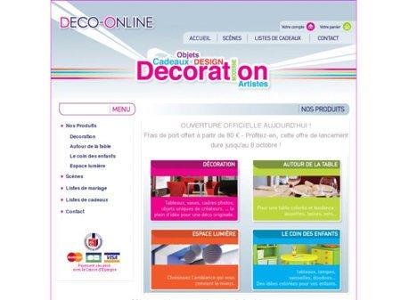 deco-online.fr - site de vente d'objets de décoration en ligne