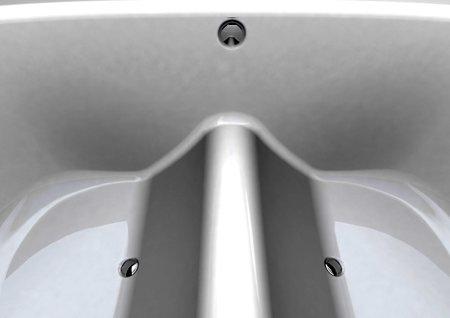 détail de la pointe de la baignoire écologique Peak bath - Lyndon Craig design